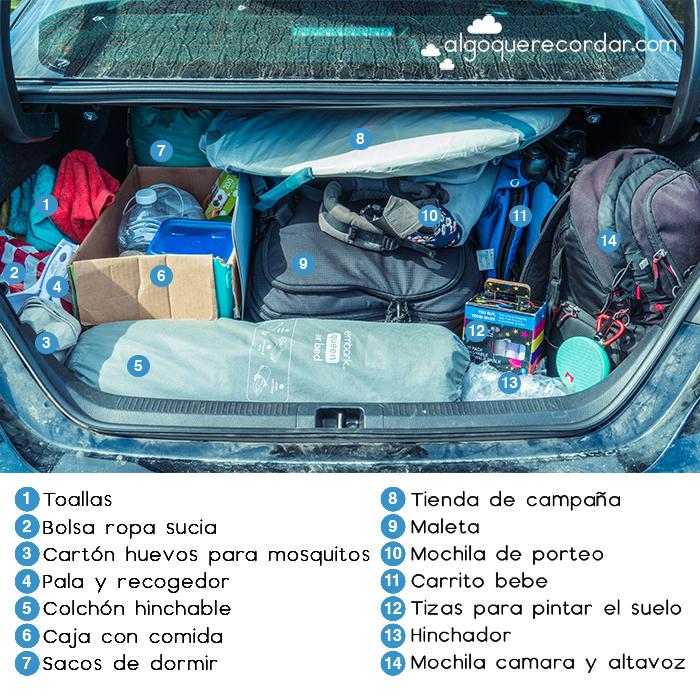 maletero coche abierto