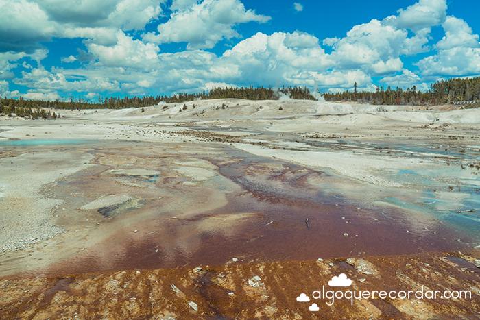 Porcelain Basin en Norris Geyser Basin Yellowstone