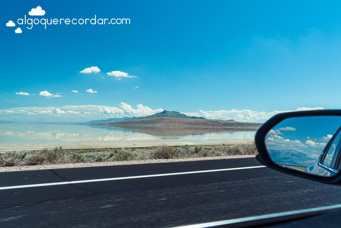 Antelope Island desde el coche