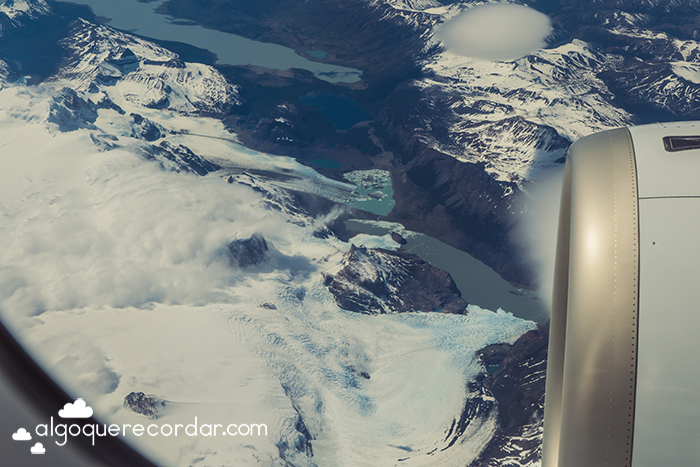 glaciar desde ventanilla avion