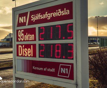 precios gasolina islandia