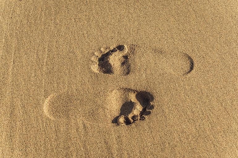 huellas playa