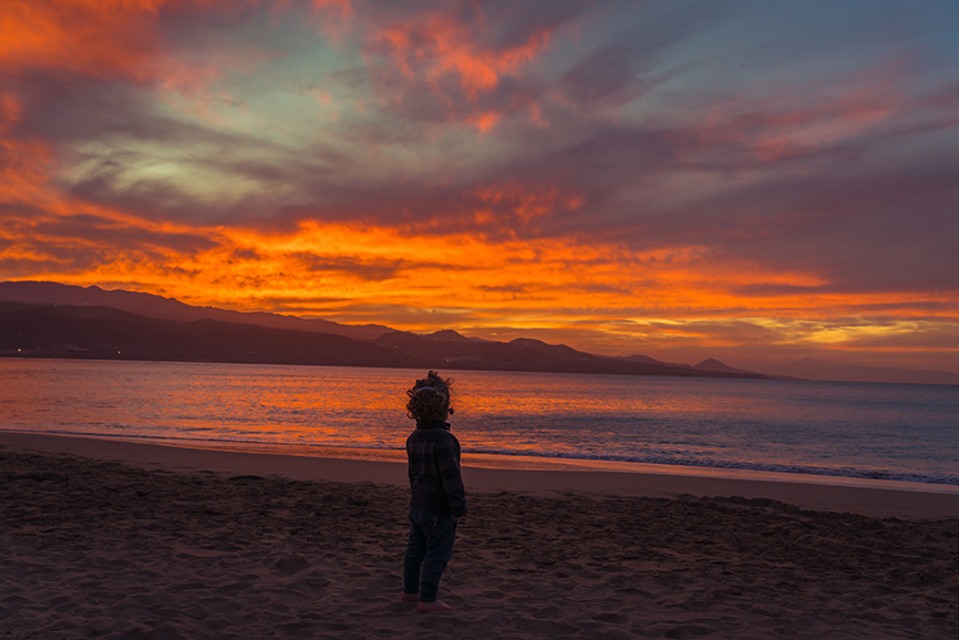 puesta de sol las canteras